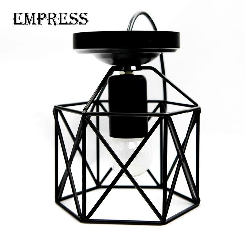 Moderne Led Birdcage Retro Loft Decke Lampe Schatten Vintage Decke Lichter Hause Beleuchtung Leuchte Wohnzimmer Esszimmer Licht Käfig