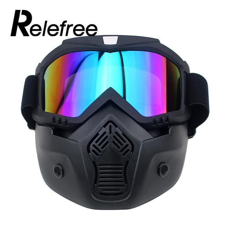 adf086061b0eb Motocicleta Meia Face Paintball Esporte Neoprene Óculos de Motocross Óculos  de proteção do Capacete de Segurança Máscara de Esqui Snowboard Óculos em  ...