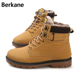Army Boots Mens Military Desert Boots Shoes Mens Timber Boots Leather Outdoor Waterproof Martin Winter 2018 Warm Large Size 46