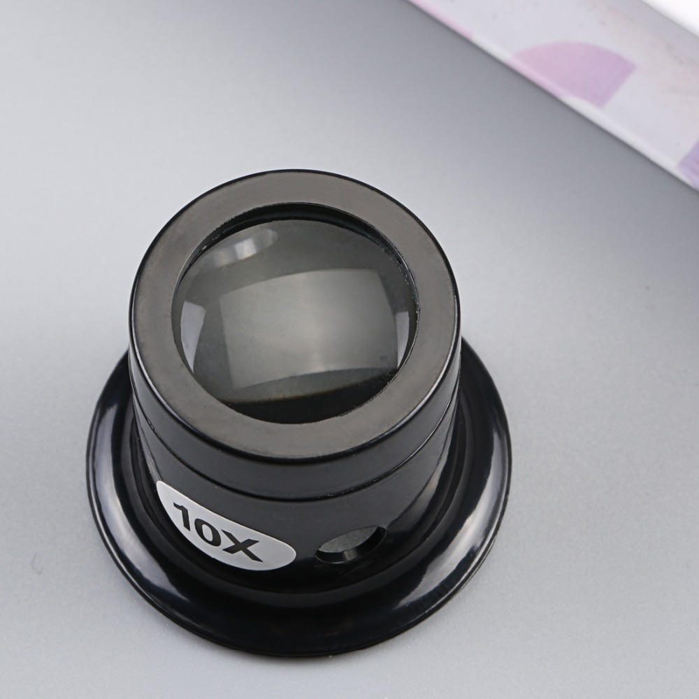 Portable 10X Monocular Glass Magnifier La Lupa Magnifying glasses Watch Jewelry Repair Tools Loupe Lens Black portable 100 times the magnifying glass with light portable antique appraisal tools with leather jewelry