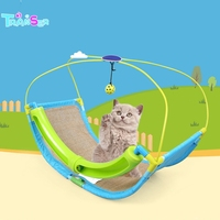 Transer Cat Toy Pet Exercise Puzzle Cradle Cat Bed Sofa With Ball Toys Hammock Drop shipping 16w3