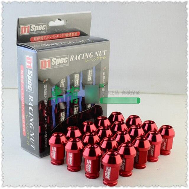 20pcs D1 Car Wheel Nuts M12x1.5 M12x1.25 Hub Screw And Bolts M12 1.5 1.25 Red CY379-CN-2