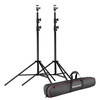 Neewer 2 Packs Photography Heavy Duty Light Stand with Hot Shoe Ball Head Adapter and Carrying Bag for LED Panel/Ring Light