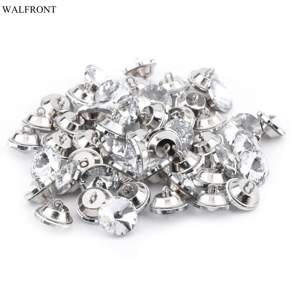 50 Stks/partij 20mm 25mm Rhinestone Crystal Knoppen Naaien Sofa Diy Craft Decoratie Accessoires Prijsafspraken Volgens Kwaliteit Van Producten