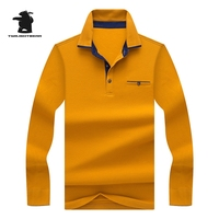 New Mens Polo Shirts Designer Pure Color 100 Cotton Plus Size Causal Long Sleeve Polo Shirt