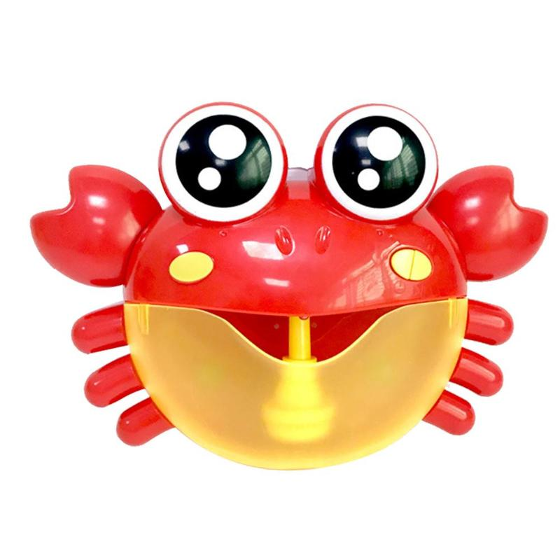 Baby Bath Toy Bubble Crabs Funny Music Bath Bubble Maker Pool Swimming Toys Bathtub Soap Machine for Children Kids Toys portable automatic electric bubble machine toys for kids