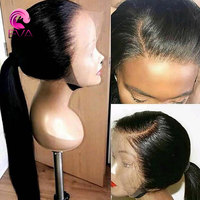 Eva Hair 360 Lace Frontal Wig Pre Plucked With Baby Hair Brazilian Remy Hair Straight Lace Front Human Hair Wigs For Black Women