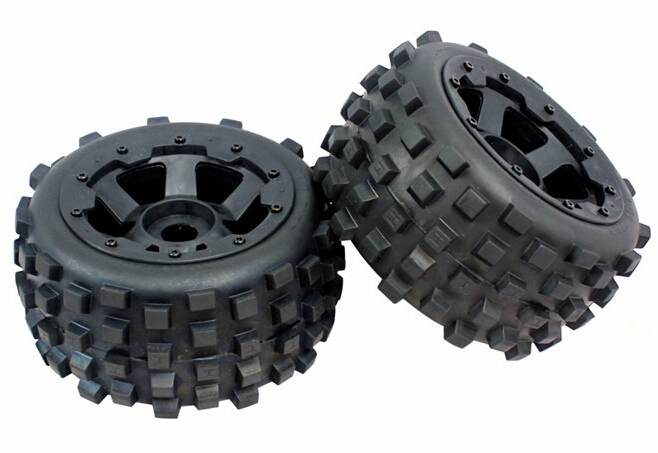 1 5 rc car gas RC Car Off Road Knobby Rear Tire tyre with nylon wheel