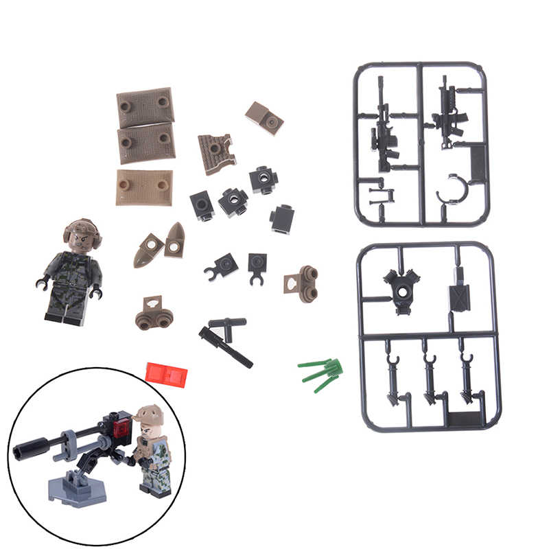 Kids Childaren DIY Bricks Building Blocks Compatible Legoing Toys SWAT Wars Military Falcon Commandos Army Soldiers Marine Corps