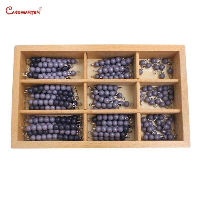 Professionnel Montessori mathématiques damier conseil perles chaînes noir gris enseignement aides éducatifs jouets boîte préscolaire enfants MA041-3