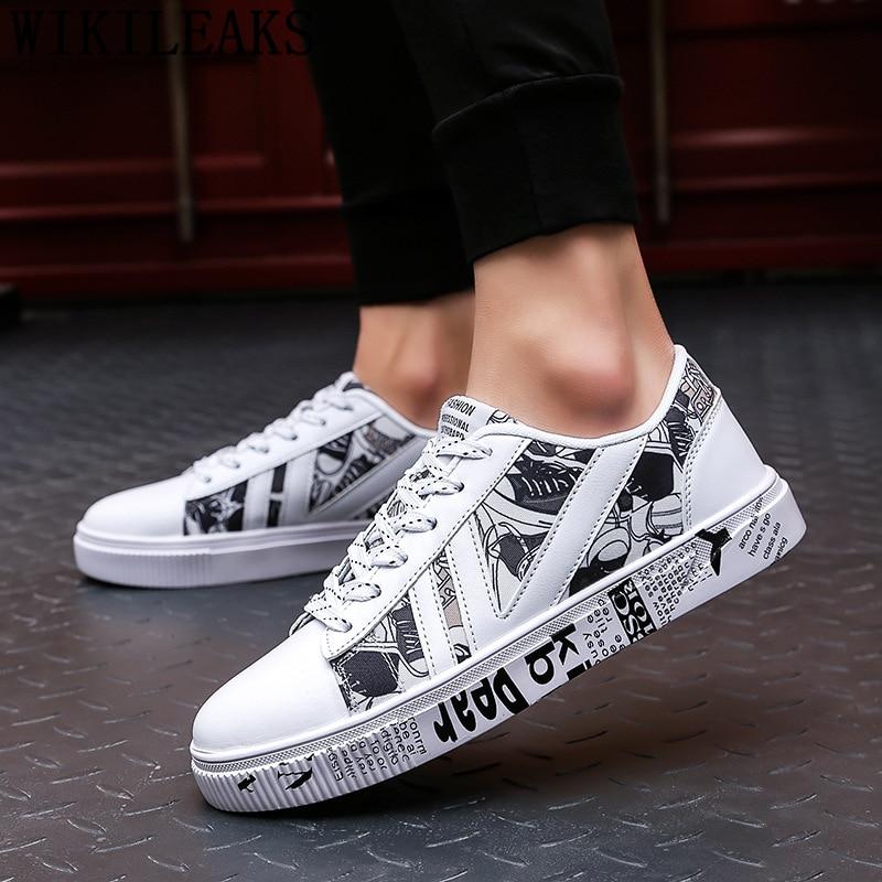 Casual Leather Shoes Men Luxury Brand Hip Hop Shoes Designer Shoes Men High Quality Zapatillas Hombre Erkek Spor Ayakkabi Tenis