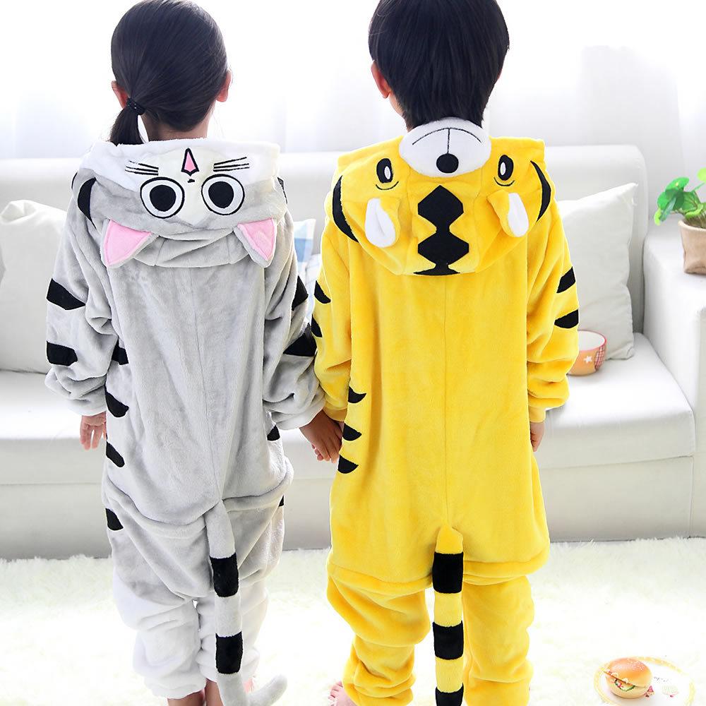 Детские пижамы; детские пижамы для костюмированной вечеринки с изображением тигра, сыра, кота; пижамы из мягкой фланелевой ткани; пижамы для девочек и мальчиков; домашняя одежда