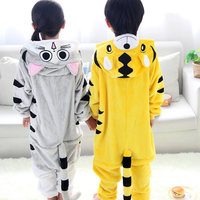 Children's pajamas Tiger Cheese cat Cosplay Kids Sleepers Pijamas Soft Flannel Material Pyjamas For Girls Boys Home clothes