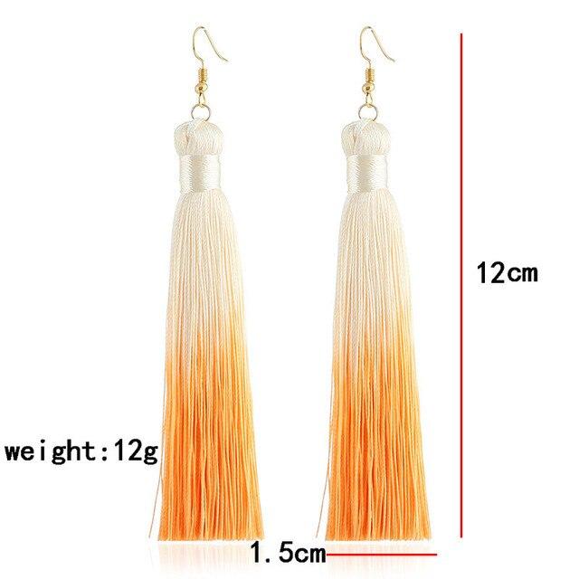 Женские богемные цветные серьги с кисточками lzhlq 2 пары длинная