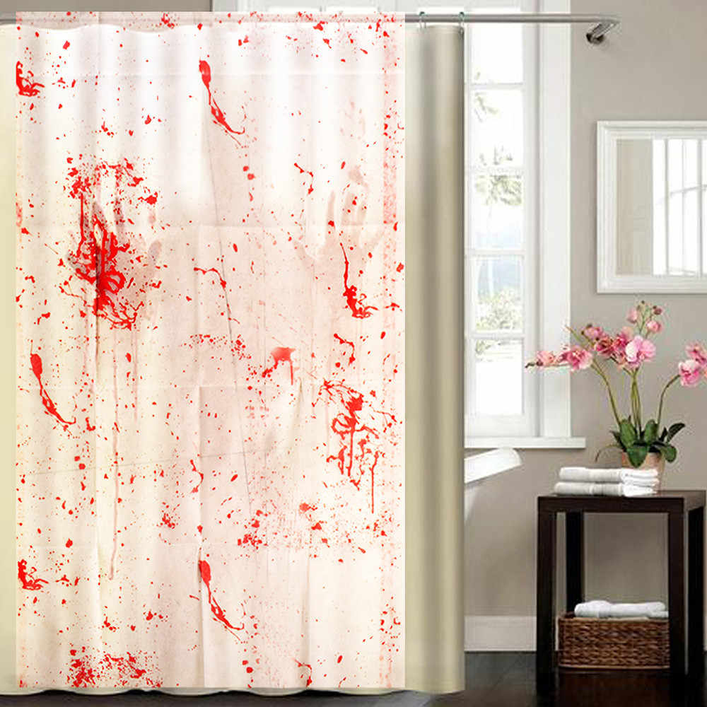 Halloween wall sticker Blood Splatter Shower Curtain Spatter Psycho Horror Halloween Bathroom Fabric room decoration stickers