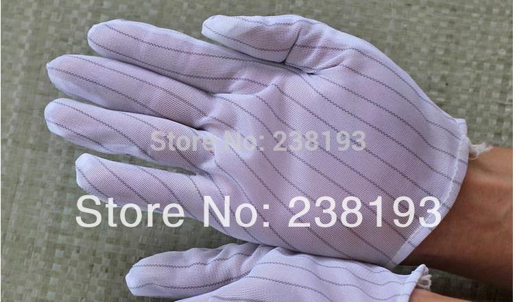 100 Pairs Anti-static Gloves, Factory Cleaning Dust White Gloves,electronic And Electrical Work Gloves.