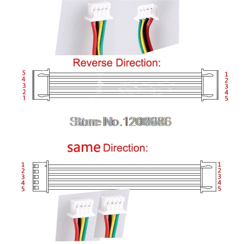 26AWG 300MM PHD2.0 JST 2.0mm Pitch PHD PHDR-10VS 10 PIN Connector Wire Harness 2.0MM pitch 300MM double head customization made