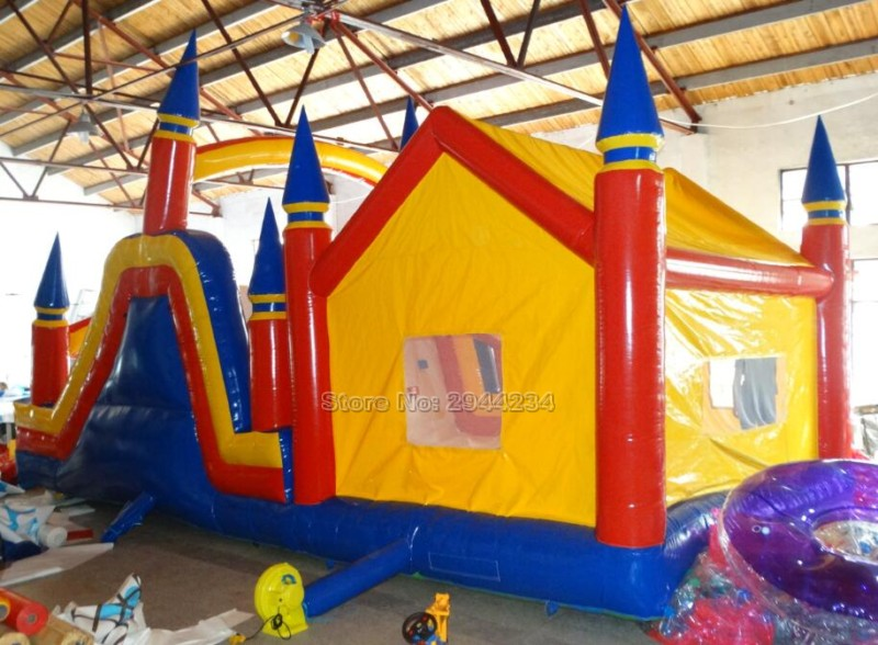 amusement China trampoline inflatable font b bouncer b font castle jump slides for kids