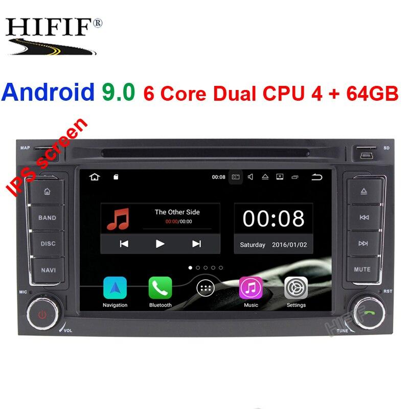 2 autoradio Android 9 pour VW/Volkswagen/Touareg CANBUS voiture multimédia lecteur vidéo DVD GPS Navigation USB DVR FM/AM