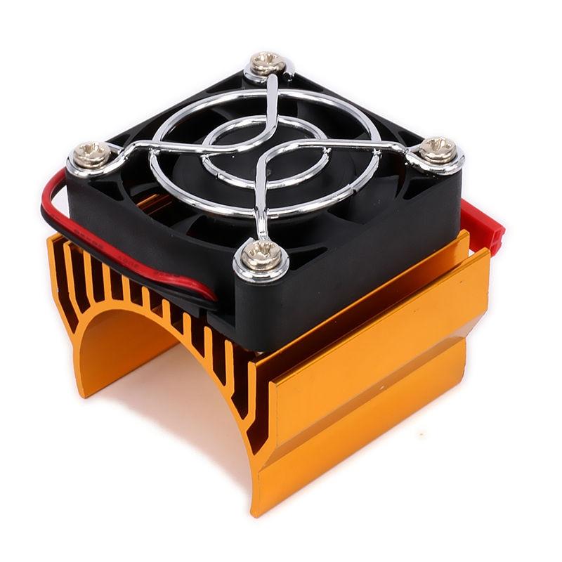 540 545 550 Motor Heatsink Heat Sink With Super Fan Cooling Head Vent Top 6v JST For 1/10 RC Model Car HSP generic roland scan motor for sj 540 sj 740 fj 540 fj 740 sc 540 printer parts motor