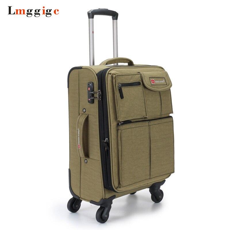 Oxford Suitcase Bag, Rolling Luggage Case, Whell Box oxford borboniqua oxford