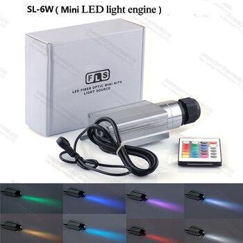 Заводе 6 Вт мини-потолочные светильники освещения Оптическое волокно свет двигатель с RGB изделие РФ ИК-пульт дистанционного управления