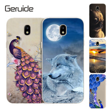 Geruide For Samsung Galaxy J3 2017 J330F SM-J330F 5.0Case Cover, Printed Soft Cover Silicon J330 case