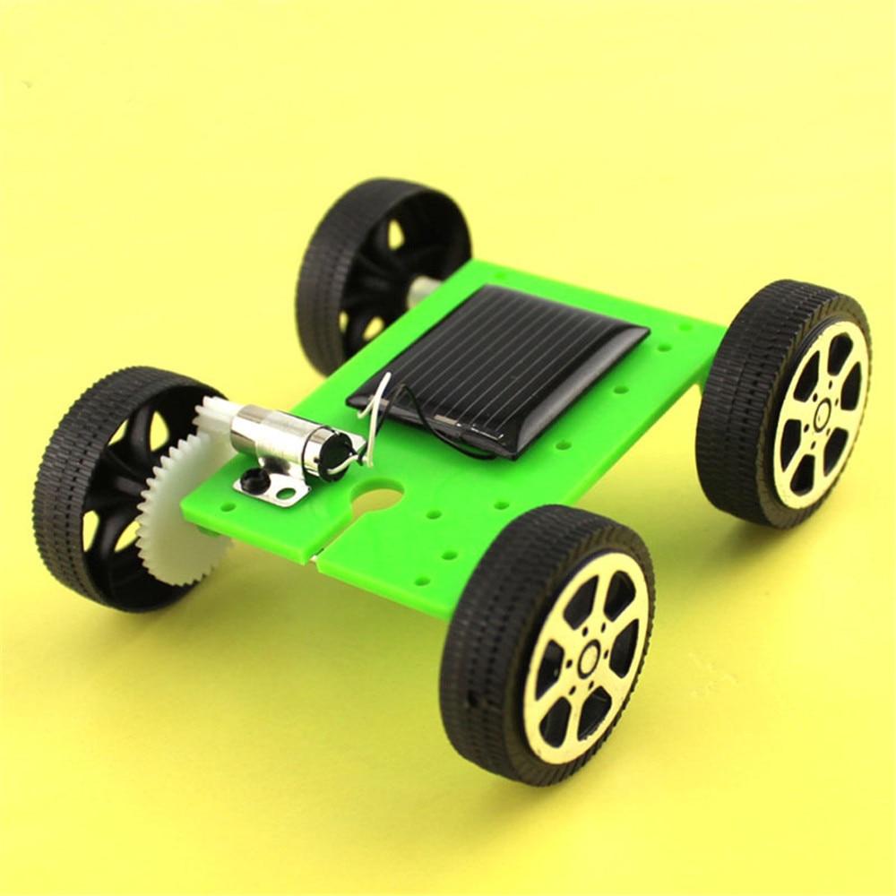 1 Set Mini Solar Powered Toy DIY Car Kit Children Educational Gadget Hobby Funny Kids Toys For Boys Girls Robot Kit Robot Car