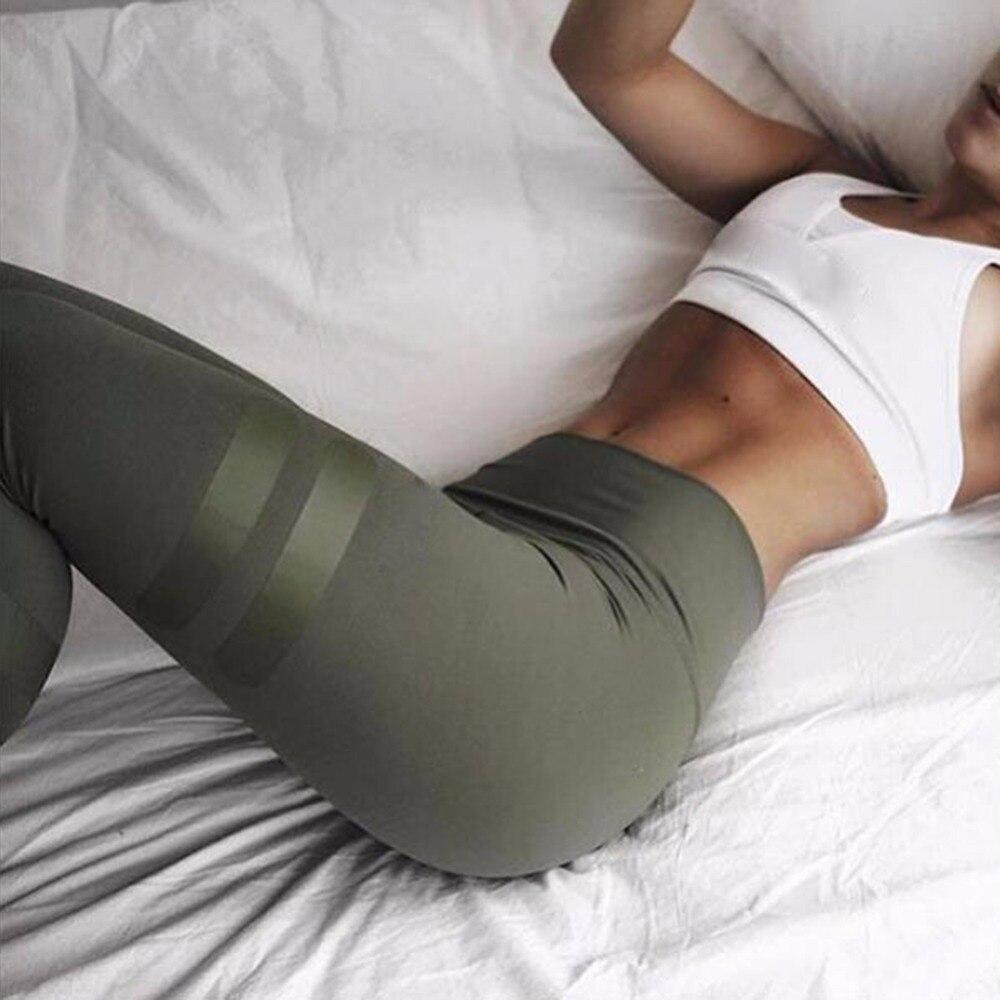 Prix pour Armée vert de yoga pantalon sport leggings femmes gym fitness workout pantalon à séchage rapide en cours d'exécution collants taille haute leggings sport pantalon