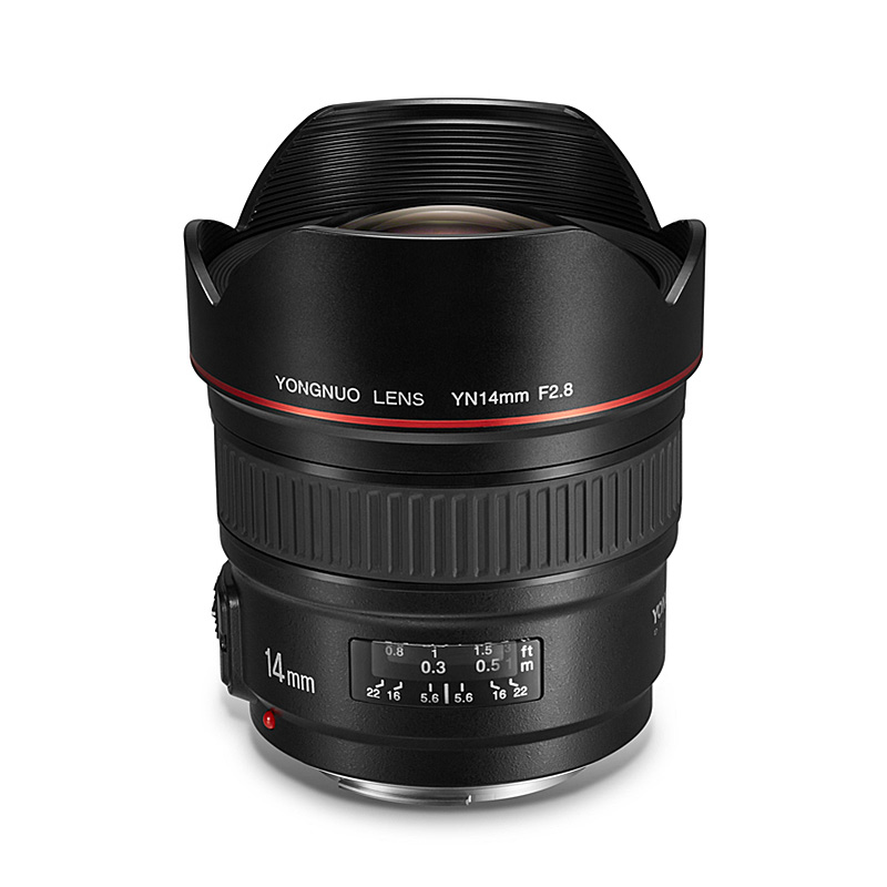 YONGNUO Ultra-wide Angle Prime <font><b>Lens</b></font> YN14mm F2.8 for <font><b>Canon</b></font> 5D Mark III IV 6D 700D <font><b>80D</b></font> 70D Camera image