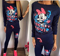 2017 Hot Selling Casual sportswear Printed Hooded long-sleeved Suit Tenue Femme Sportwear