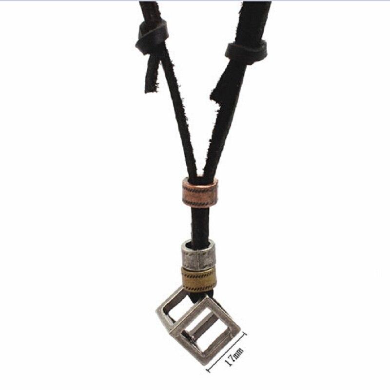 100% Genuine Leather Men Women Necklacess