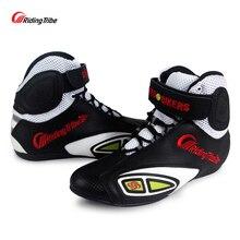 Stivali da Moto fuoristrada in pelle in microfibra da equitazione scarpe da equitazione da Motocross stivali da corsa per Moto