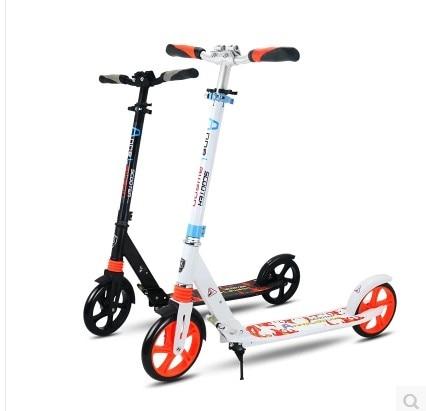 Z01 NEWS STYLE 8 pollici Big PU Wheel regolabile in altezza pieghevole per adulti Urban Scooters 2 ruote in alluminio Freno a disco a pedale Scooter