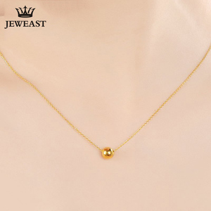 JAZB 24K Pure Gold charm Real AU 999 Solid Gold beads pendant Beautiful Bead Upscale Trendy Classic Jewelry Hot Sell New 2020