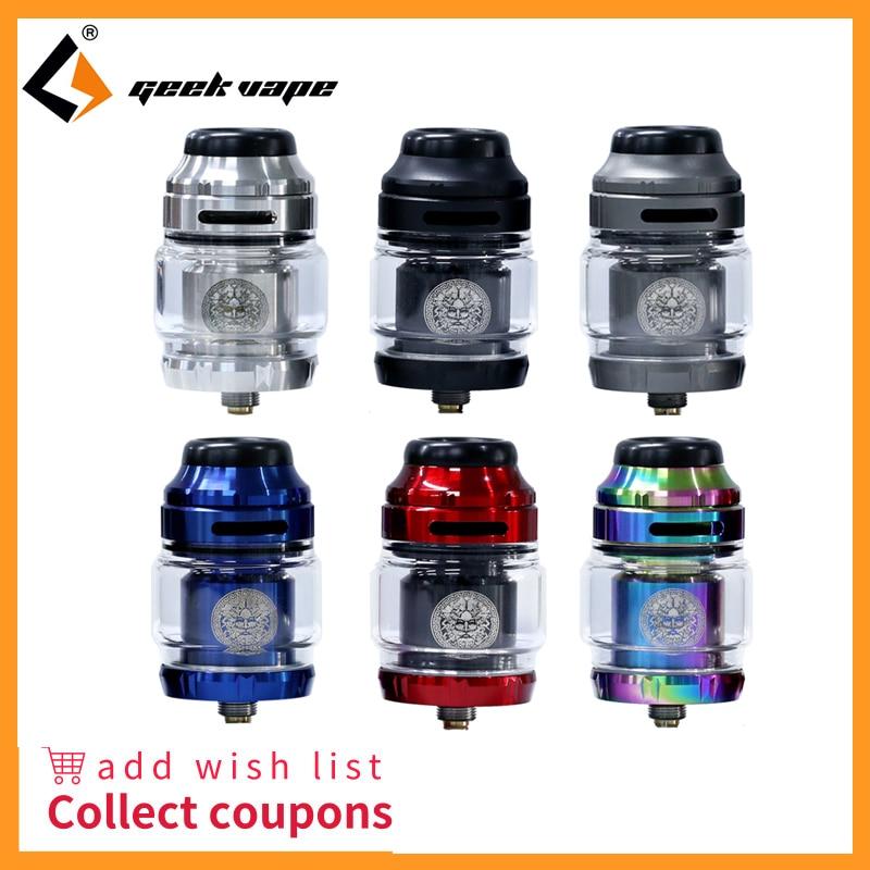Tanque de vapeo Geekvape zeer X RTA 4,5 ml capacidad del tanque con el atomizador del cigarrillo electrónico de la punta del goteo de Delrin 810 vs doble/Amit MTL