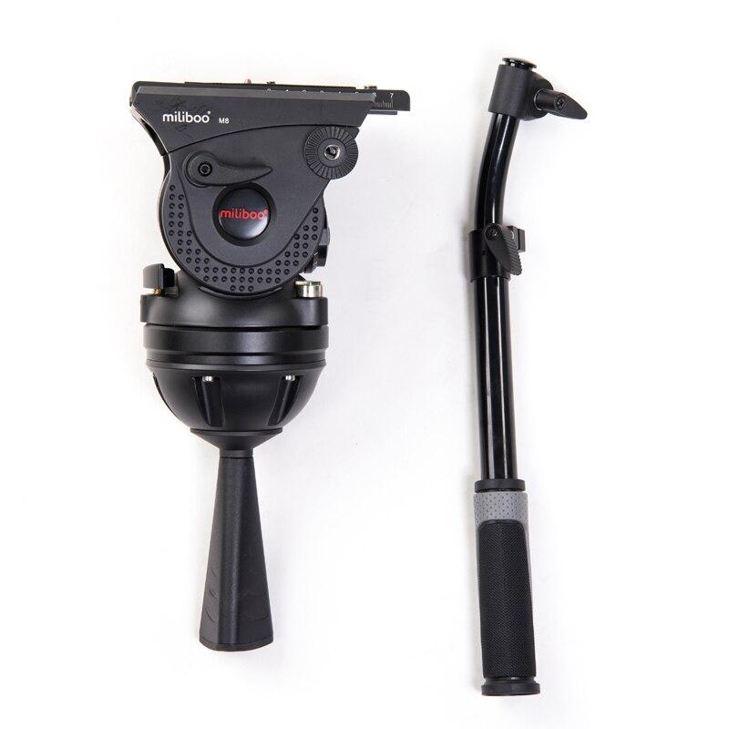 Miliboo M15 вещания для видеосъемки нагрузка 25 кг Алюминиевая, сверхмощная монопод штатив Трипод с панорамной головкой для 100 мм чаша