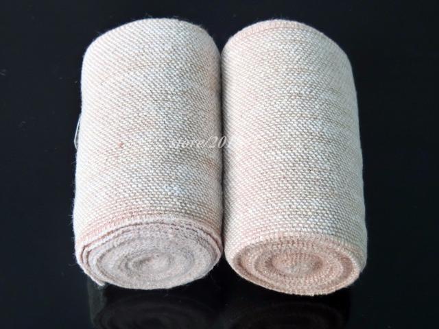 12 rollos/lot crepe elástico vendaje elástico suave textura coba ayuda de la rodilla envoltura adherente 7.5 cm x 4.5 m primeros auxilios