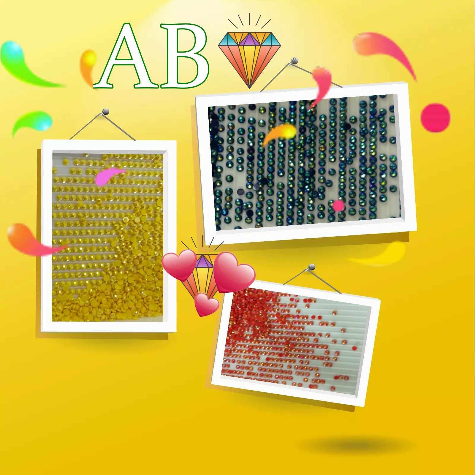 יהלומי ציור עגול AB מקדחות 23 צבעים מכירות עבור שקיות 1 שקית = 200 חתיכות