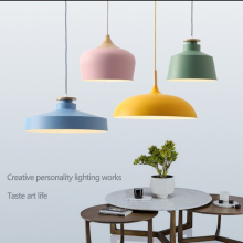 Nordic simple lamps led macaron creative personality restaurant bedroom lighting  indoor living room chandelier
