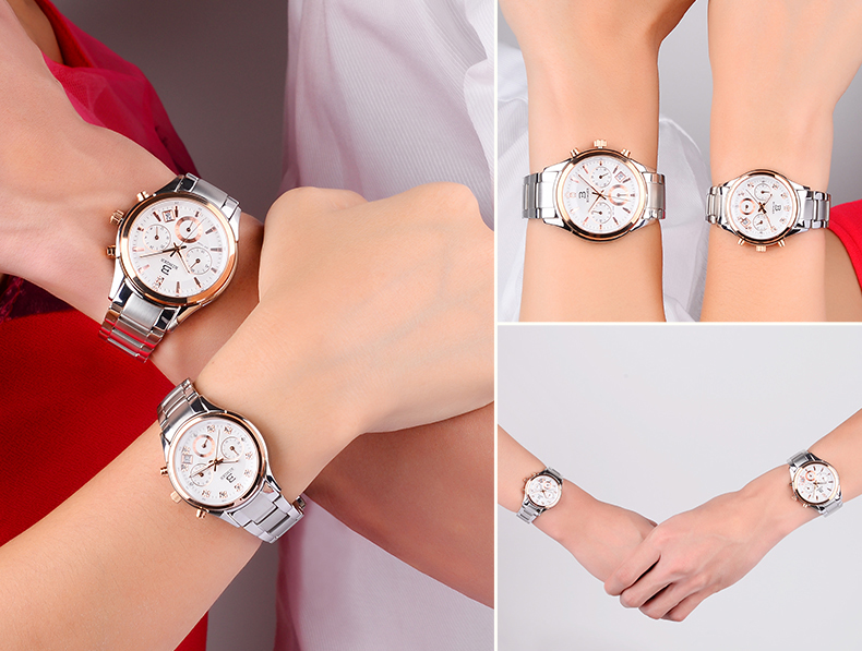 Relógio de Quartzo relógio de Pulso Calendário