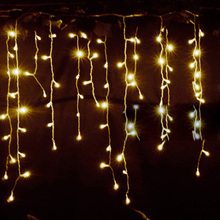Christmas Tree LED Light Ornament 4m Multicolor Icicle Curtain Christmas Decorations For Home Mall Navidad 2016