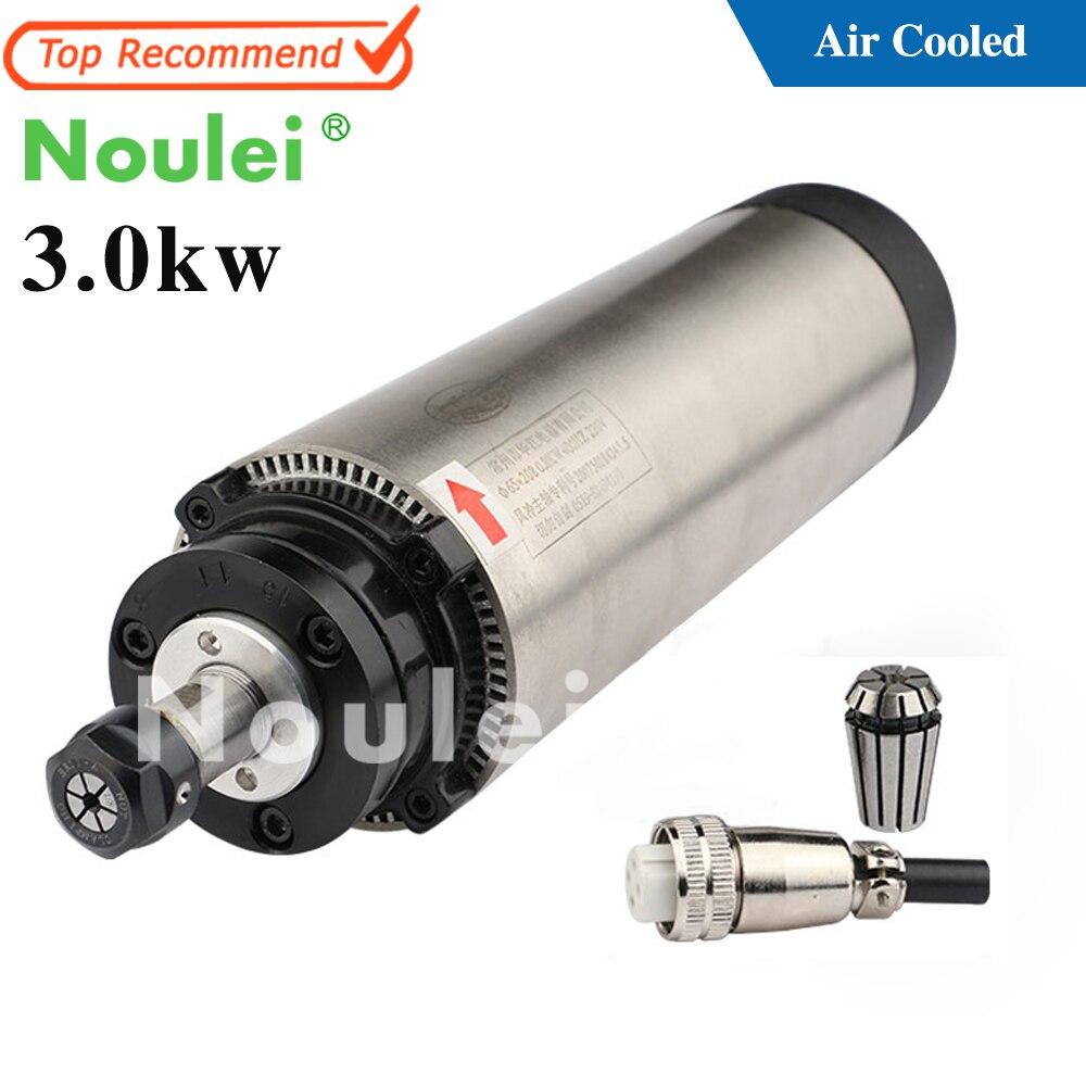 3.0kw ensemble de moteur de broche refroidi par Air 220 V ER20 mandrin 3 kw pour le fraisage de gravure sur bois et acrylique de CNC