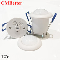 Newest Arrival DC12V Mini LED PIR Infrared Body Motion Sensor Detector Lamp Light Switch With Time