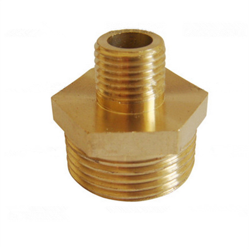 Brass 20 x 16mm Male Thread Hex Pipe Connector Fitting