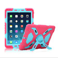 Brand Hybrid Armor Waterproof Shockproof Dustproof Kids Safe Stand Case Cover For ipad mini 1/2/3 Retina ipad 2 3 4 Air Shell