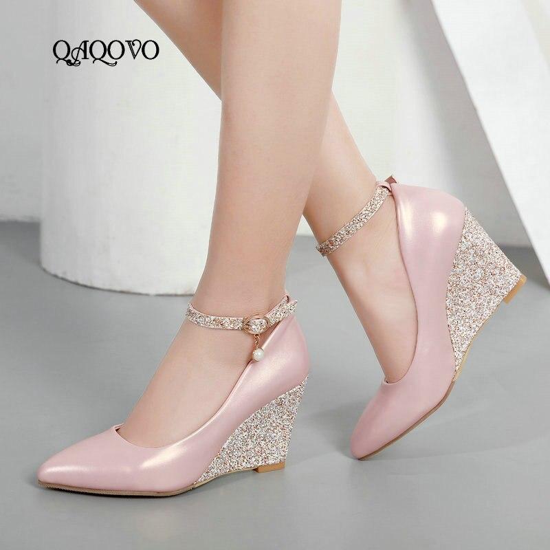 rosado Hebilla blanco Alto Blanco De Puntiagudo Verano Fiesta Zapatos Tacón  Moda Mujer Pie Sexy Bombas Dedo ... d4afcb72a206