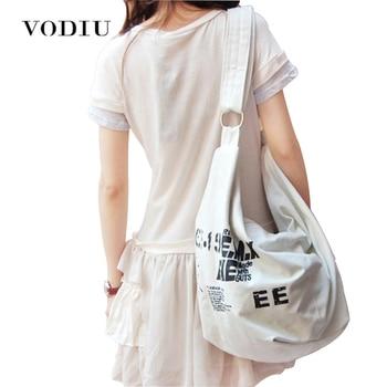 2018 Black Korean Over Shoulder Bags Women Female Irregular Canvas Crossed Body Crossbody Handbags Bag Ladies N Messenger Bags