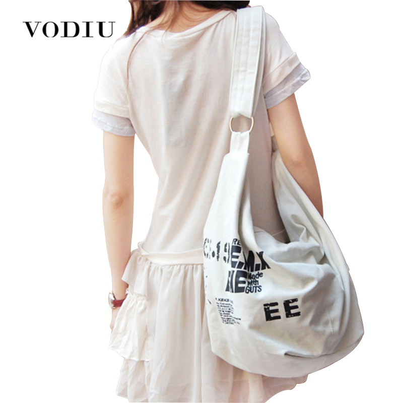 Korean Shoulder Bags For Women Irregular Canvas Crossed Body Handbag Bag Ladies