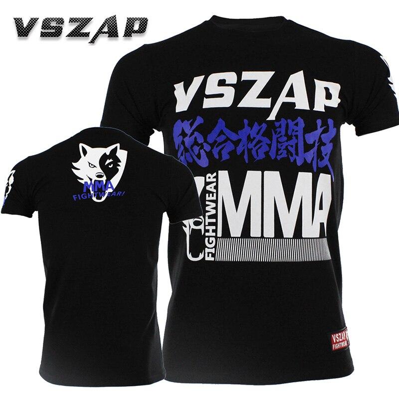 New Boxing Jerseys VSZAP Fight MMA Shirt T-shirt Boxing Fitness Sport Muay Thai Men Cotton Sport Comfortable Shorts